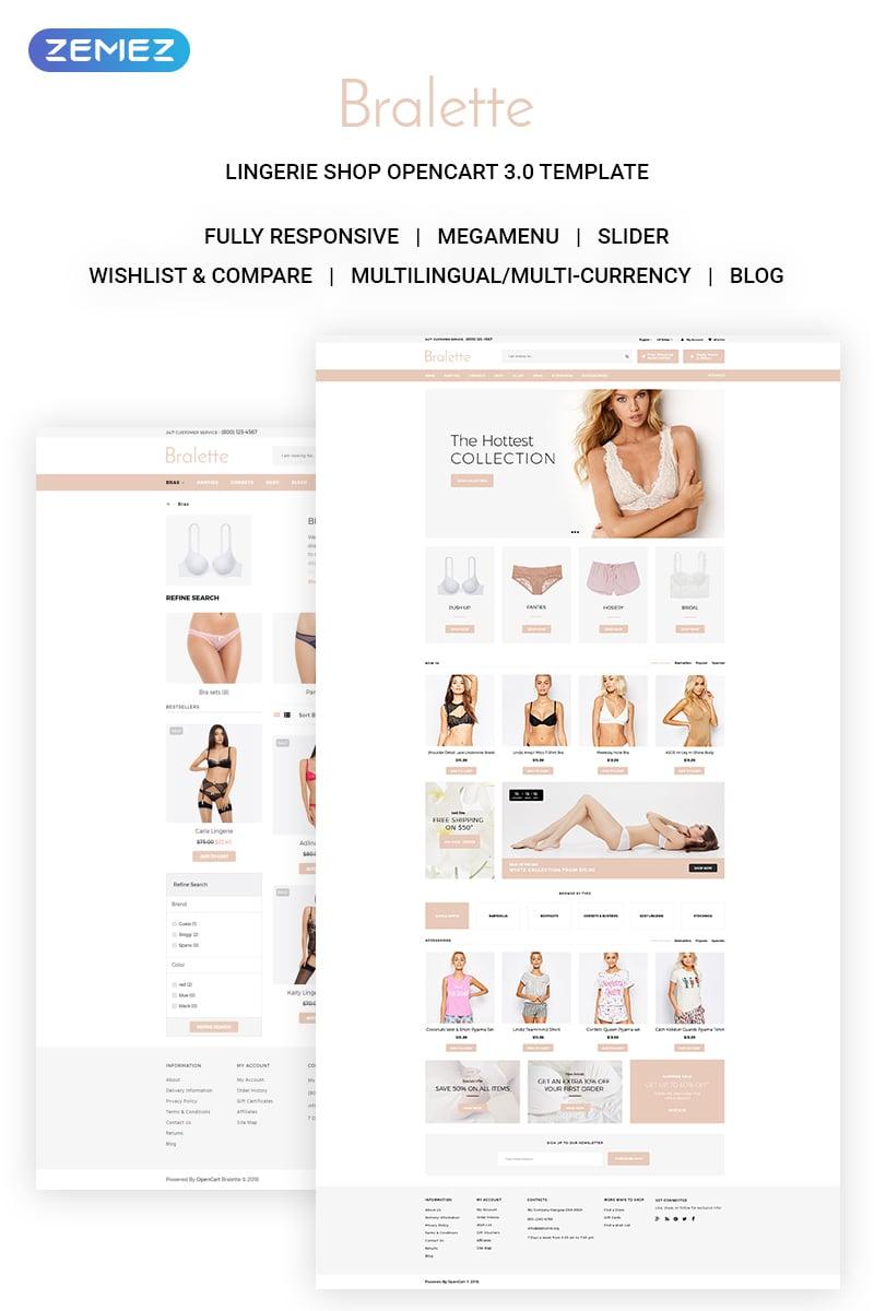 Bralette Lingerie OpenCart Template - screenshot