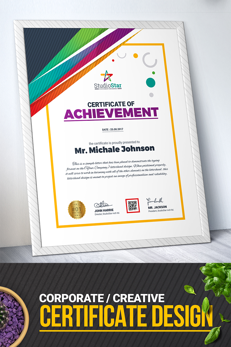 Company Design Certificate Template 71668