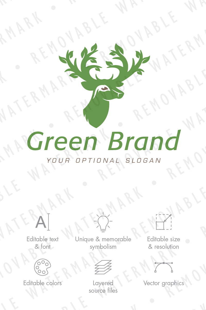 deer of the forest logo template 71611