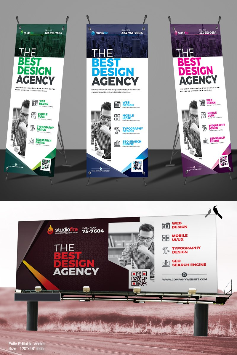 Digital Signage | Billboard | Rollup Banner Corporate Identity Template