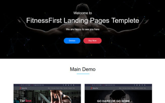 Fitness First - HTML5 Landing Page Tempalte Landing Page Template