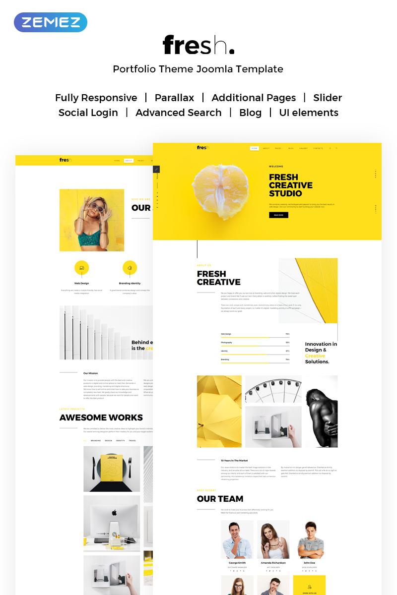 """Fresh Creative Portfolio"" - адаптивний Joomla шаблон №71644"