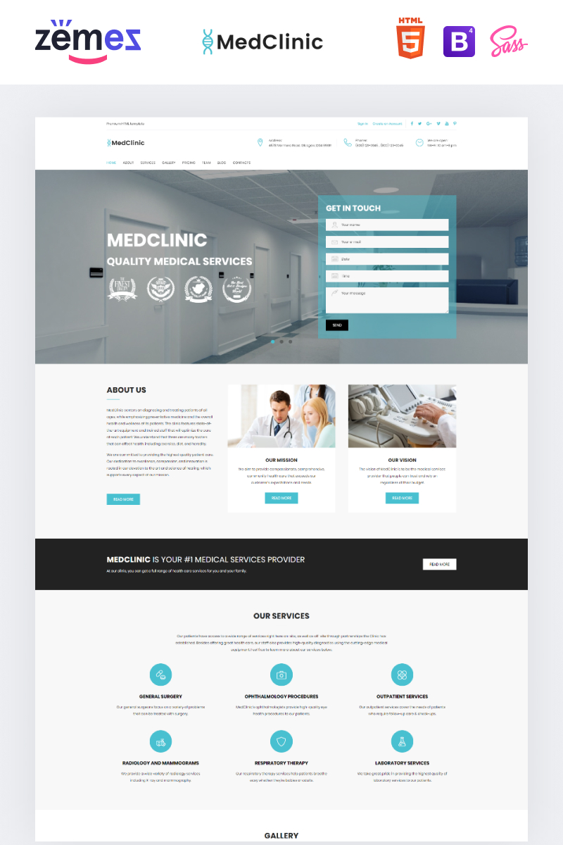 "Landing Page Template namens ""MedClinic - Private Medical Clinic HTML5"" #71682"