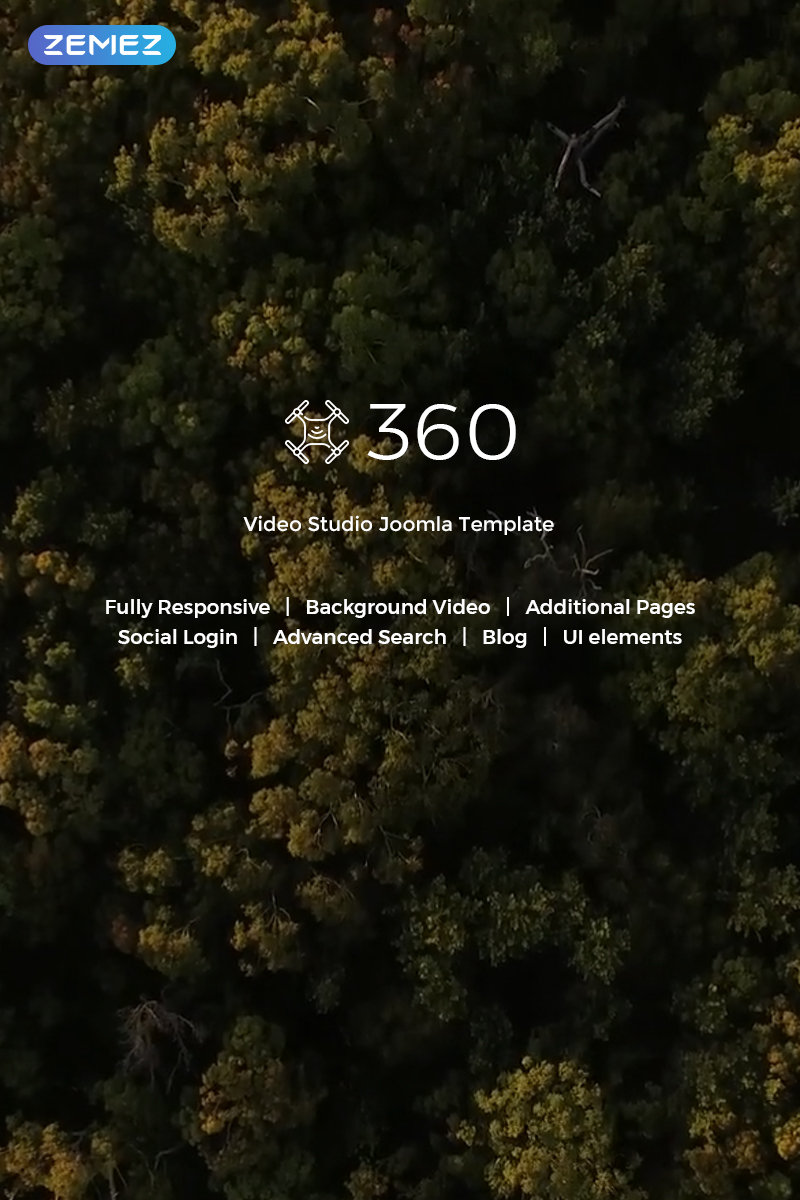 """""""Let's Fly - Aerial Photography & Videography"""" Responsive Joomla Template №71634"""