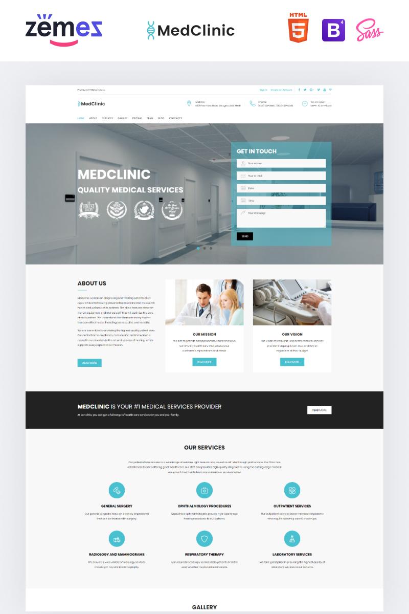 """MedClinic - Private Medical Clinic HTML5"" - адаптивний Шаблон цільової сторінки №71682"