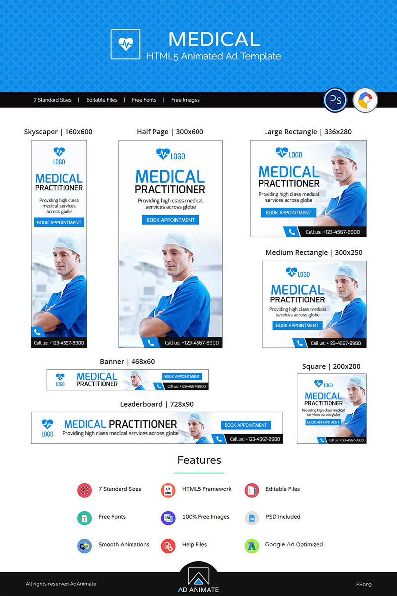 Professional Services | Medical Ad Banners Animated Banner