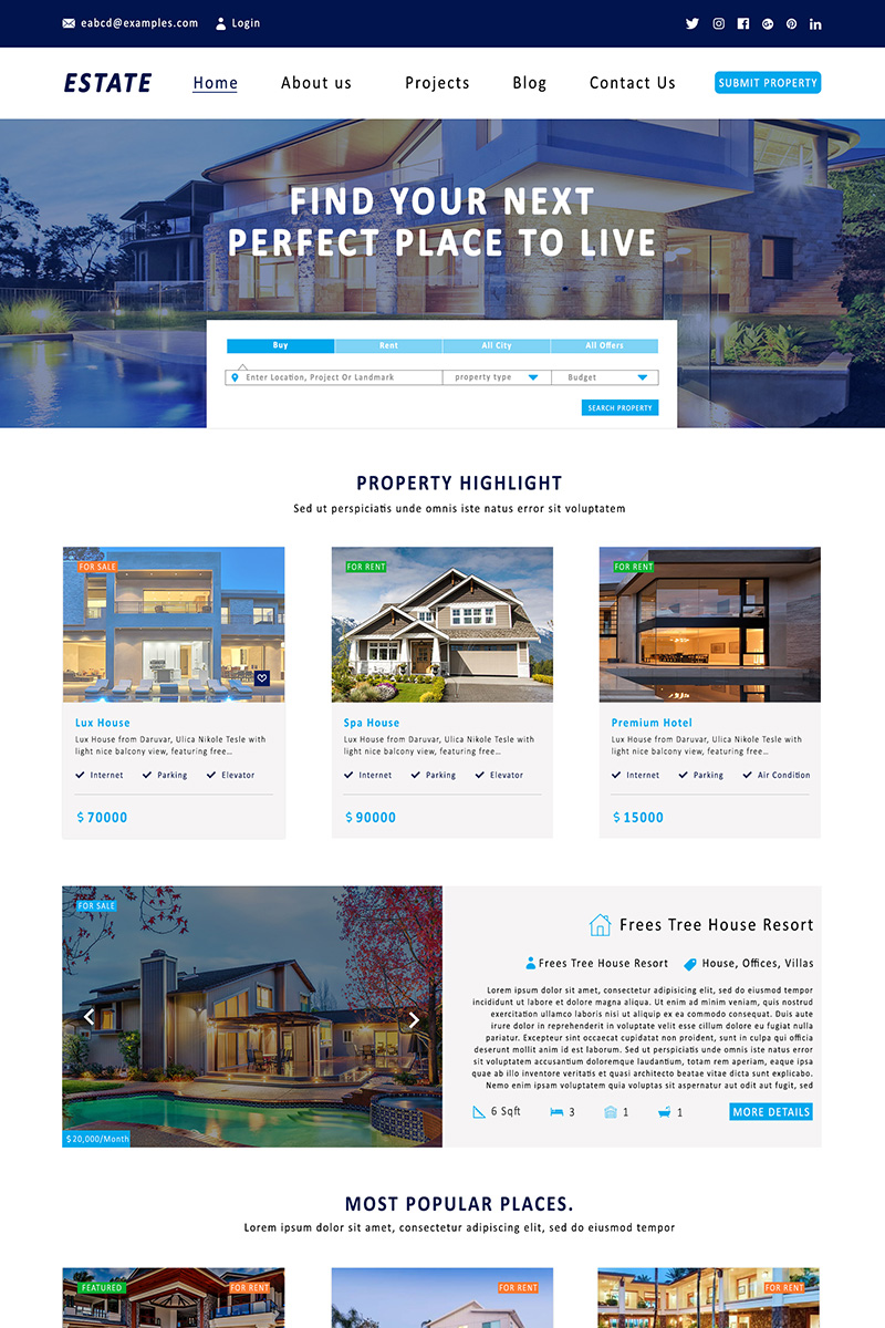 Real Estate for Builders Template Photoshop №71646