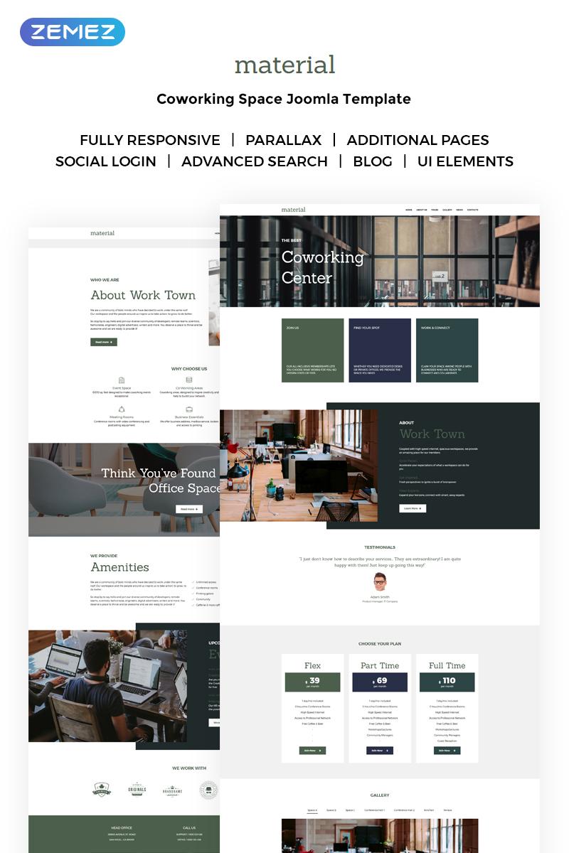"Responzivní Joomla šablona ""Work Town - Coworking Space"" #71645 - screenshot"