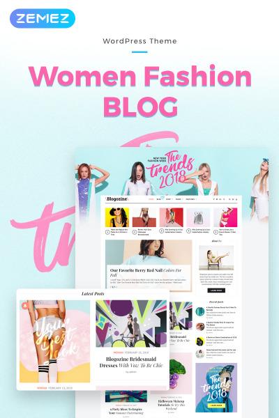 Responsive Tema De WordPress #71661 para Sitio de  para Bloges de moda
