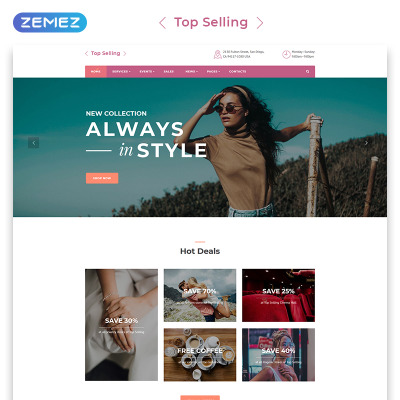 Shoe Store Templates | TemplateMonster