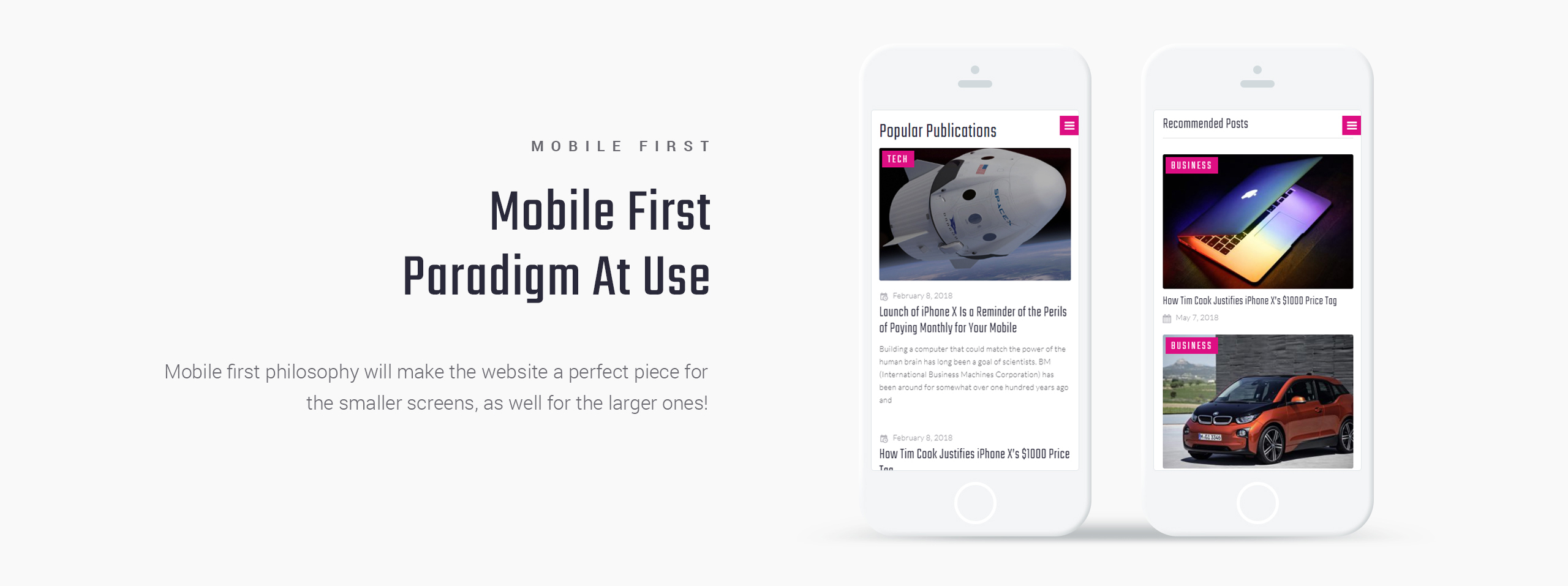 Website Design Template 71739 - electronics