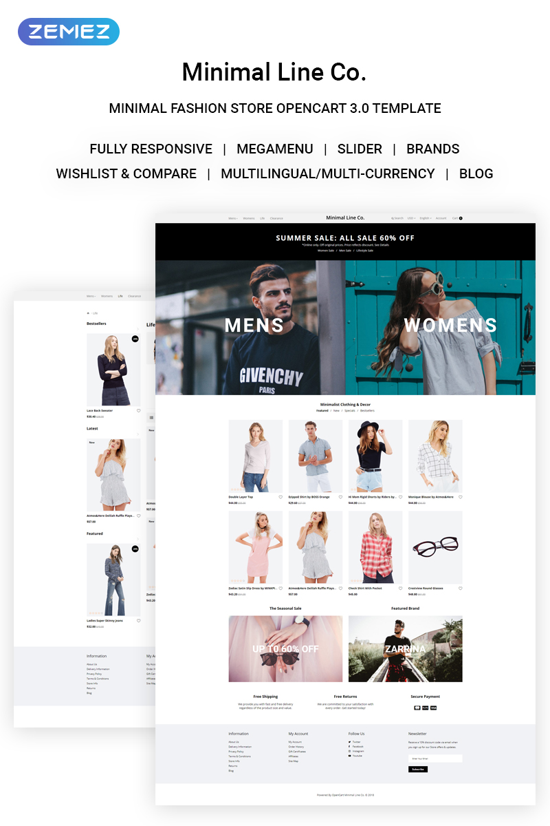 Website Design Template 71741 - ecommerce fashion opencart products services shopundefined