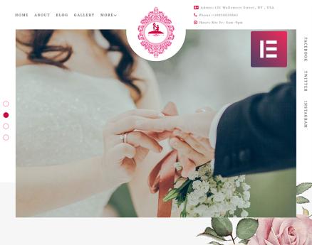ForeverLove - Wedding Landing Elementor WordPress Theme