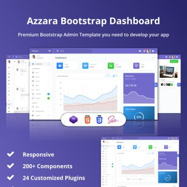 Preview image of Azzara - Bootstrap Dashboard
