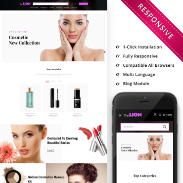 Preview image of Lion Cosmetic - Beauty Store
