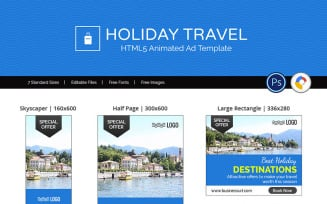 Tour & Travel | Holiday Travel Banner Ad Templates