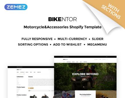 Bikentor - Extreme Motorcycle Online Store Shopify Theme