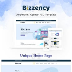 Business services psd templates templatemonster bizzency corporateagency wajeb Choice Image