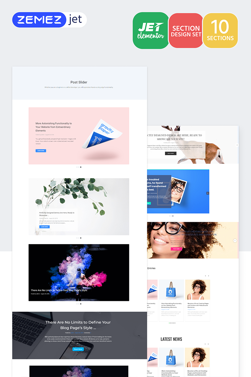 Blogster - Posts Jet Sections Elementor Template #71757