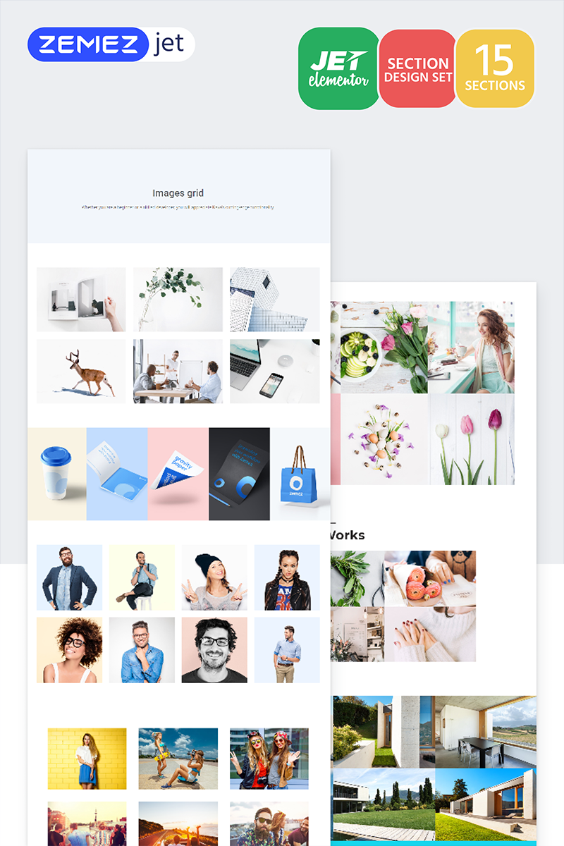 """Imagus - Images-Grid Jet Sections"" Elementor Template №71760"