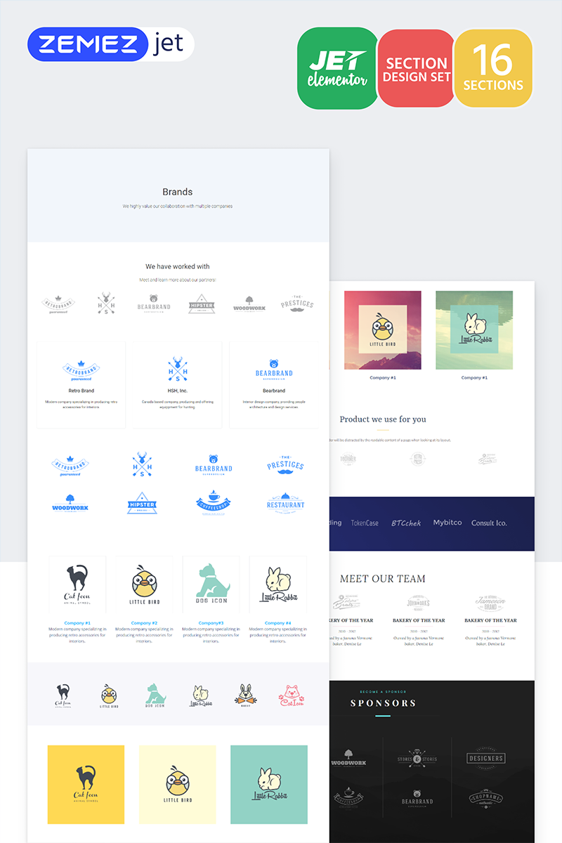 """""""Labelex - Brands Jet Sections"""" Elementor Template №71762"""