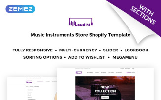 Loud M - Music Instruments Store Shopify Theme
