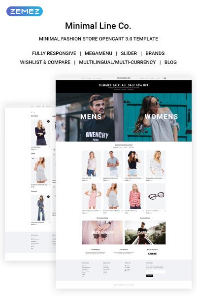 Thème OpenCart adaptatif  pour boutique de mode