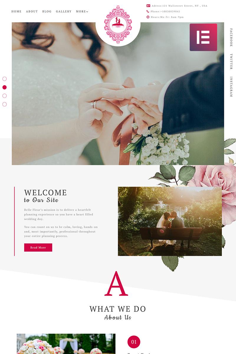 Responsivt ForeverLove - Wedding Landing Elementor WordPress-tema #71765 - skärmbild