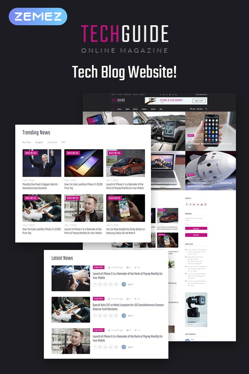 Responsivt Techguide - Tech Blog Elementor WordPress-tema #71739