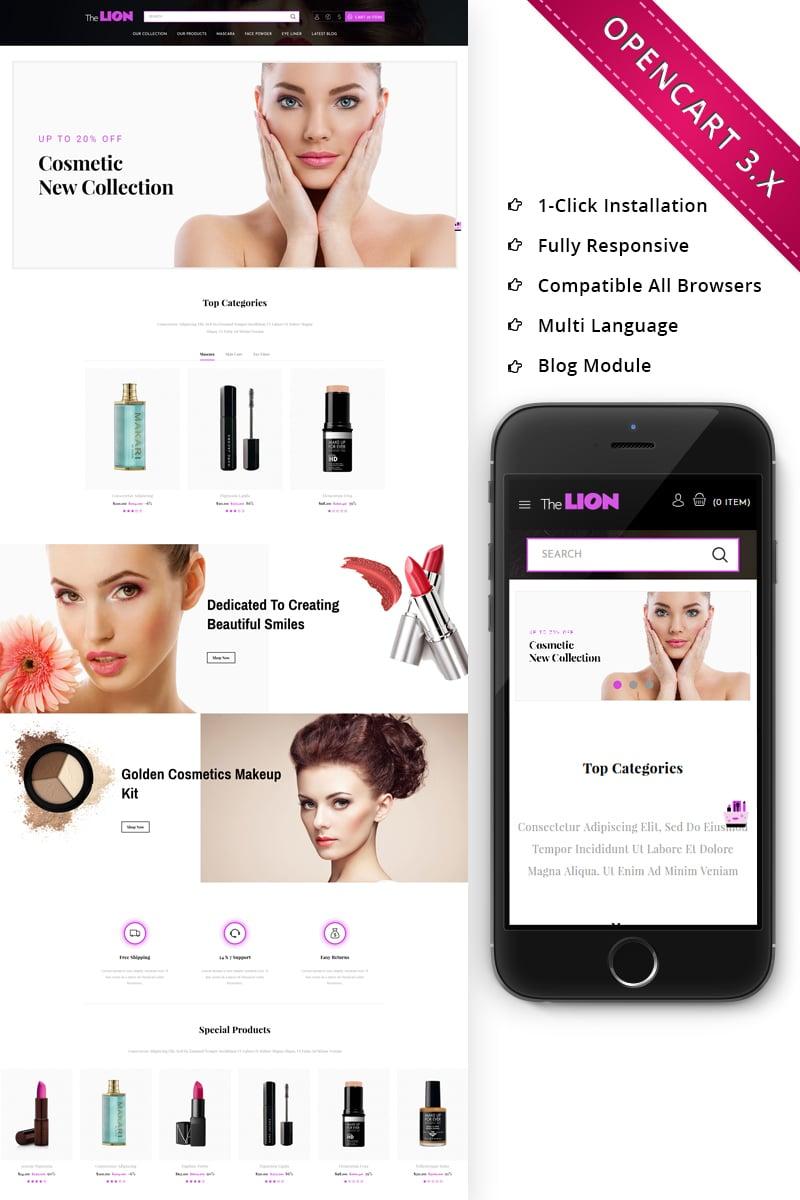 """Responzivní OpenCart šablona """"Lion Cosmetic - Beauty Store Responsive"""" #71766"""