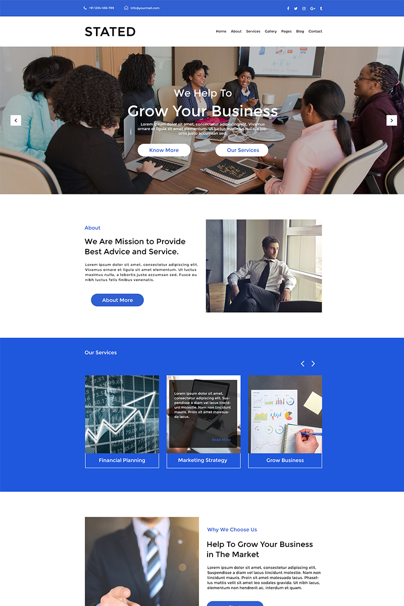 Stated Finance Consulting PSD Template