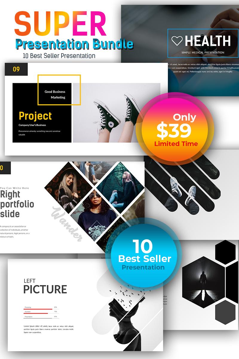 """Super - 10 Best Seller PowerPoint"" modèle PowerPoint  #71798"