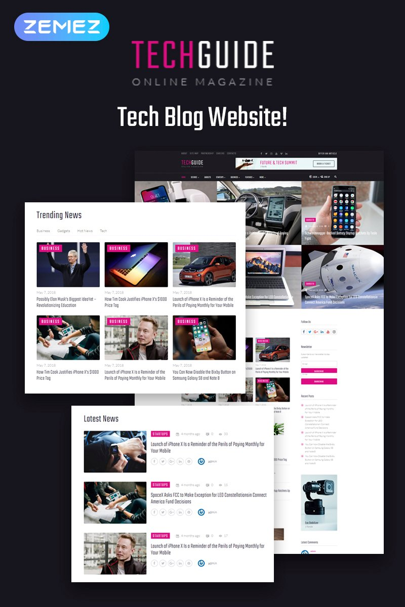 Techguide - Tech Blog Elementor №71739