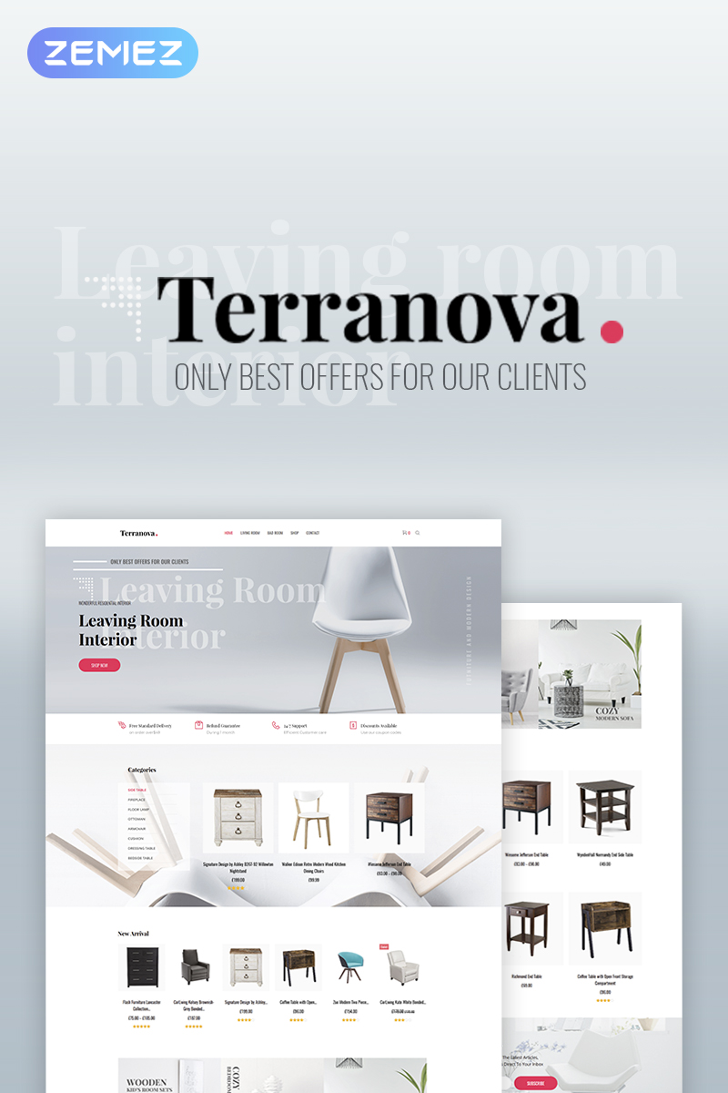 """Terranova - Interior Elementor"" Responsive WooCommerce Thema №71707"