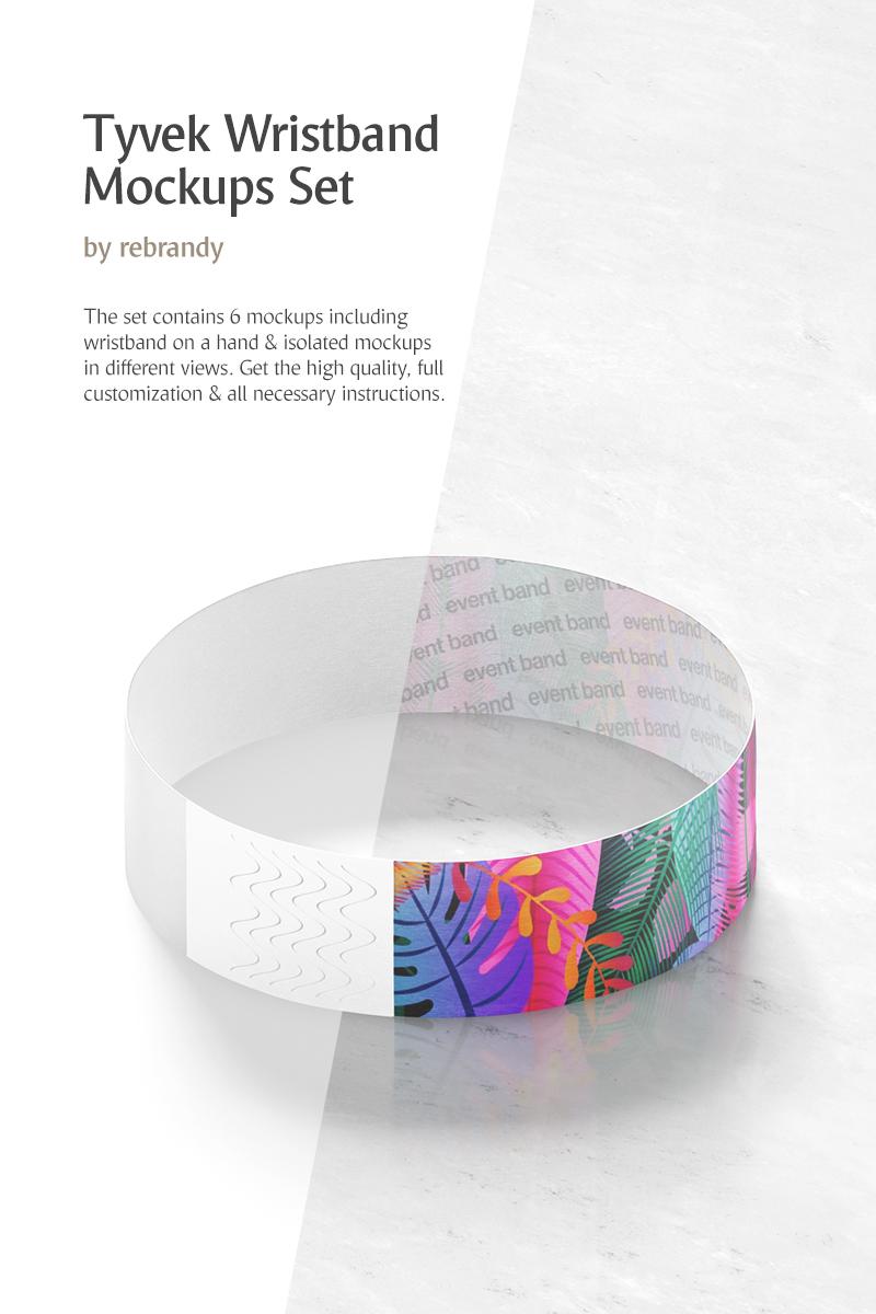 Tyvek Wristband Mockup de Produto №71714