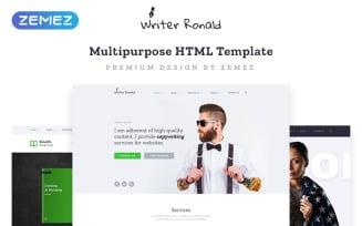 Writer Ronald - Universal Personal Multipurpose HTML Website Template