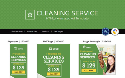 Professional Services | Cleaning Service Animated Banner