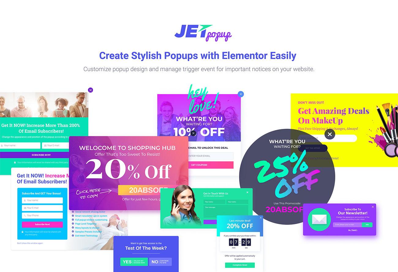 JetPopup - Popup Addon for Elementor WordPress Plugin