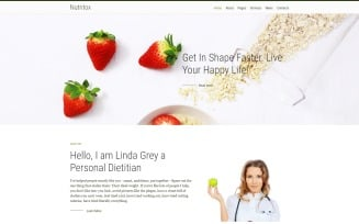 Nutritox - Simple Dietitian & Health Blogger Joomla Template
