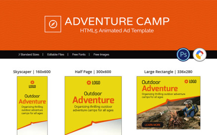 Tour & Travel | Adventure Camp Animated Banner
