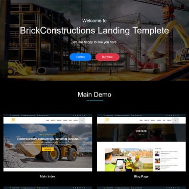 Preview image of Brick Construction HTML5 Responsive