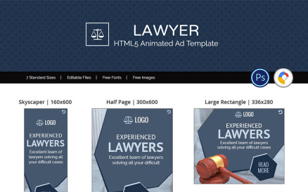 Professional Services | Lawyer Animated Banner