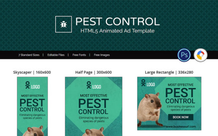 Professional Services | Pest Control Animated Banner