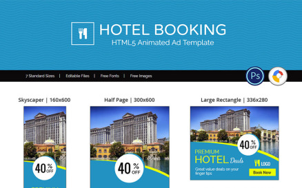 Tour & Travel | Hotel Booking Animated Banner