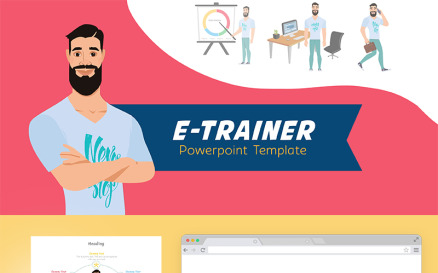 E-Trainer PowerPoint Template