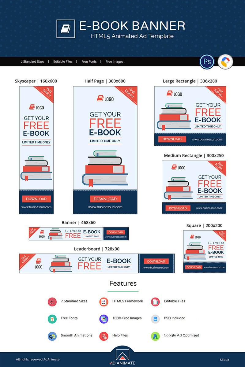 "Animated Banner namens ""Shopping & E-commerce | E-book"" #71873 - Screenshot"