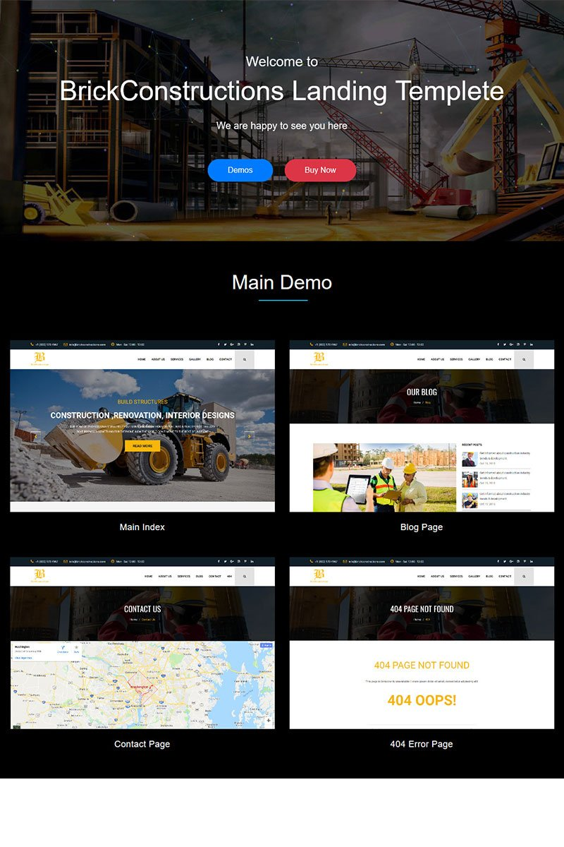 Brick - Construction HTML5 Template Landing Page-mall #71881