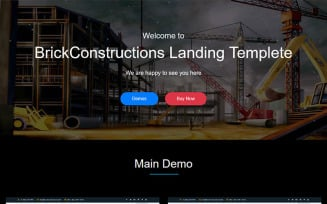 Brick - Construction HTML5 Template Landing Page Template