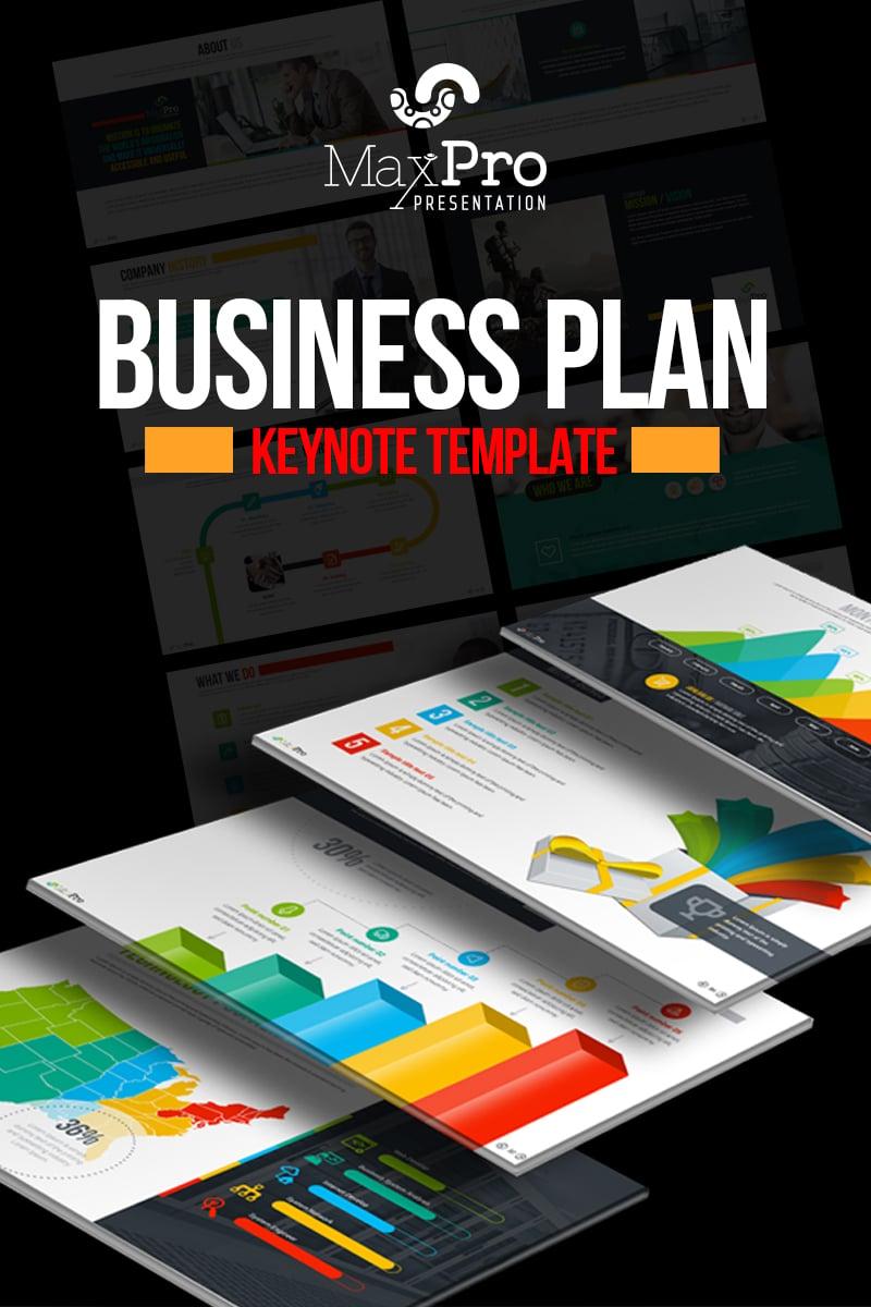 """Business Plan Presentation"" 奖金Keynote模板 #71861"