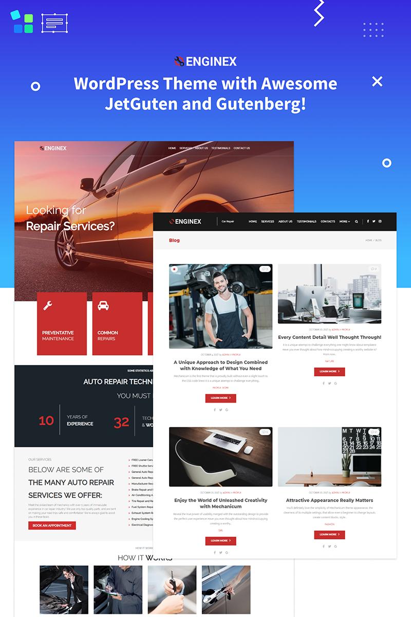 Enginex - Car Repair Gutenberg WordPress Theme - screenshot